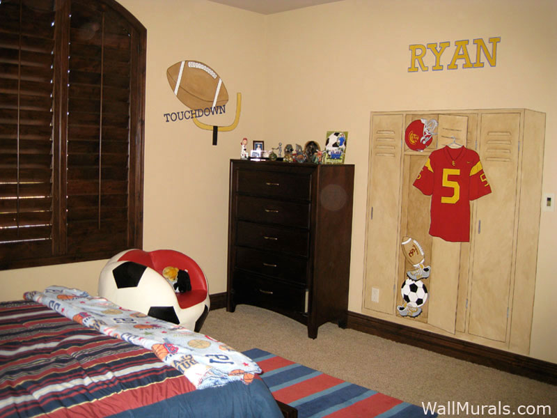 HandPainted Sports Wall Murals  Sports Theme  Wall