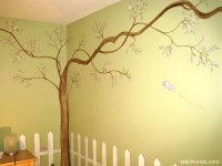 Tree Wall Murals - 50 Hand-painted Tree Wall Mural ...