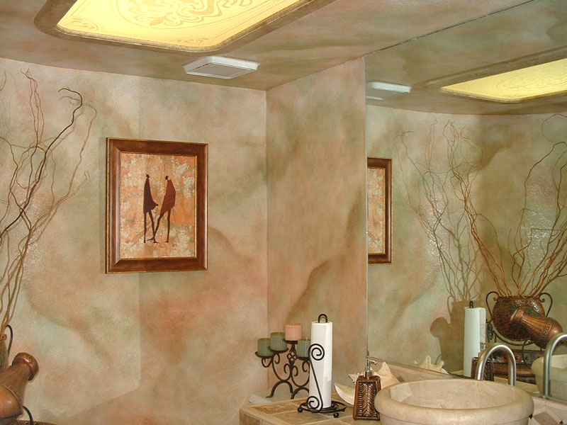 Faux Wall Finishes  Examples of HandPainted Wall Treatments