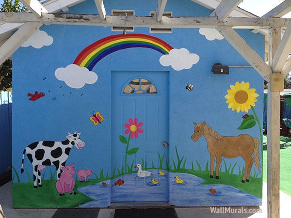 Preschool Wall Murals  Daycare Murals  Playroom  Mural Examples