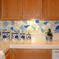 Kitchen Backsplash Murals Aprons - Hand-painted Wall ...