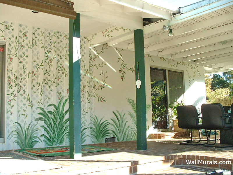kitchen wall hanging ideas classic sink outside murals - outdoor mural exampleswall by ...