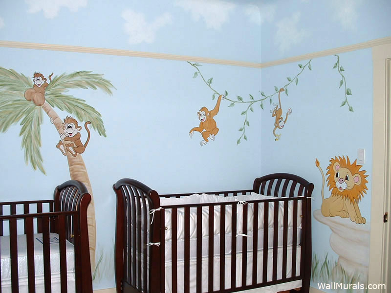 Baby Room Wall Murals  Nursery Wall Murals for Baby Boys  Baby GirlsWall Murals by Colette