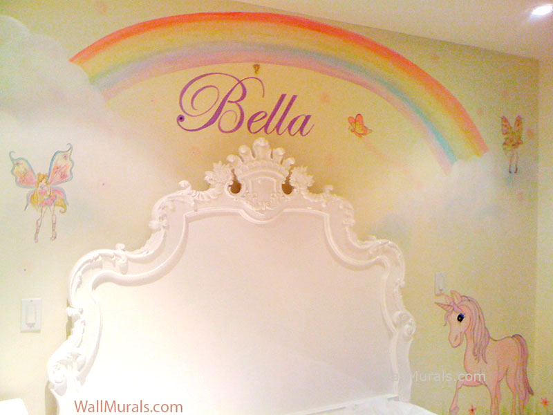 Girls Room Wall Murals  Examples of Wall Murals for
