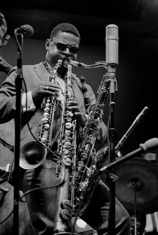 ROLAND KIRK by JOE ALPER ROLAND KIRK, Newport Jazz Festival, 1962. - Wall  of Sound Gallery - Fine Art Music Photography