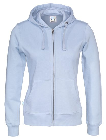 Cottover - 141009 - Full zip hood lady - Himmelblå (725)