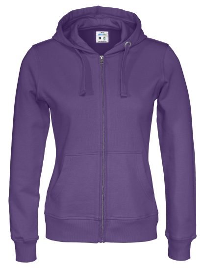 Cottover - 141009 - Full zip hood lady - Lilla (885)