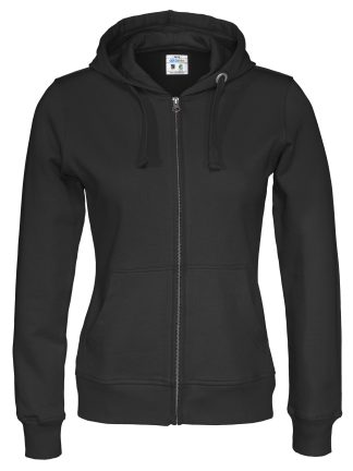 Cottover - 141009 - Full zip hood lady - Sort (990)