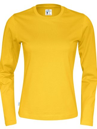 Cottover - 141019 - T-Shirt LS Lady - Gul (255)
