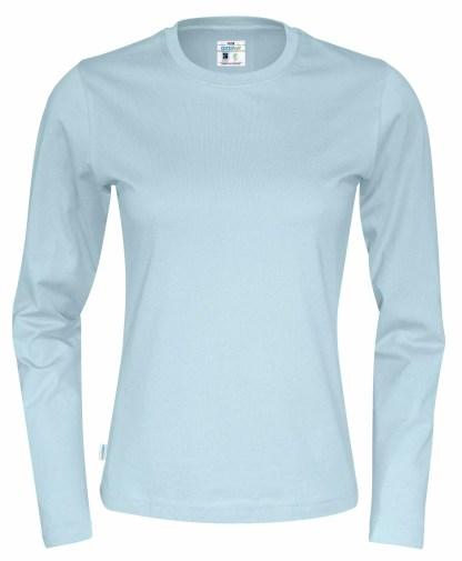 Cottover - 141019 - T-Shirt LS Lady - Himmelblå (725)