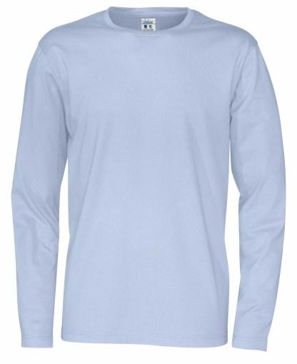 Cottover - 141020 - T-Shirt LS Man - Himmelblå (725)