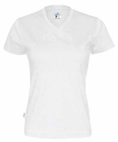 Cottover - 141020 - T-shirt V-neck Lady - Hvit (100)