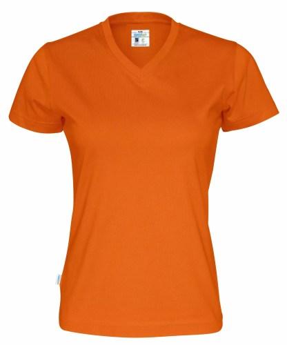 Cottover - 141021 - T-shirt V-neck Lady - Orange (290)