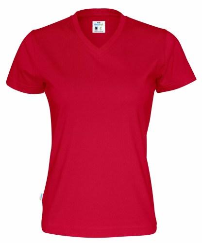 Cottover - 141021 - T-shirt V-neck Lady - Rød (460)