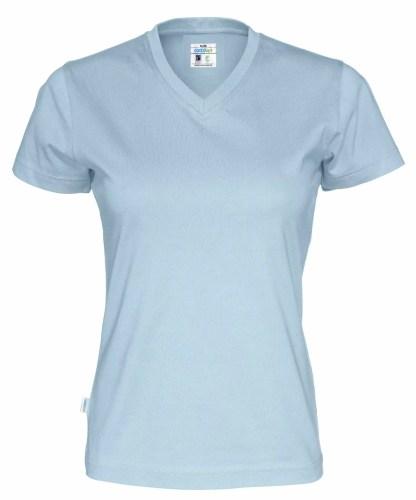 Cottover - 141021 - T-shirt V-neck Lady - Himmelblå (725)