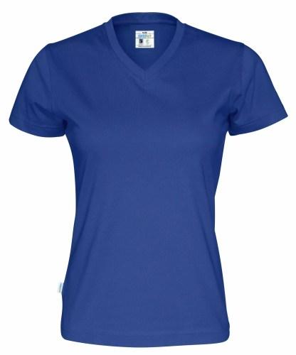 Cottover - 141021 - T-shirt V-neck Lady - Royal blue (767)