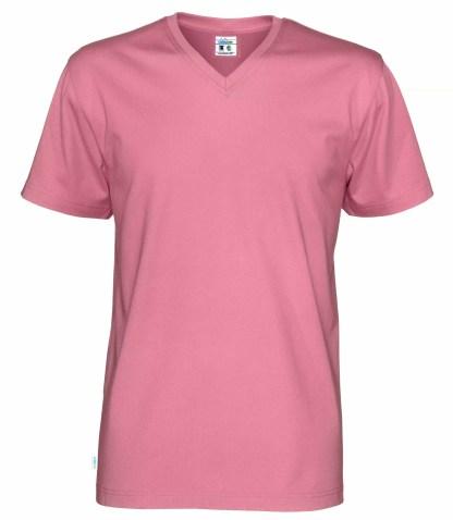 V neck T-skjorte herre - rosa (425)