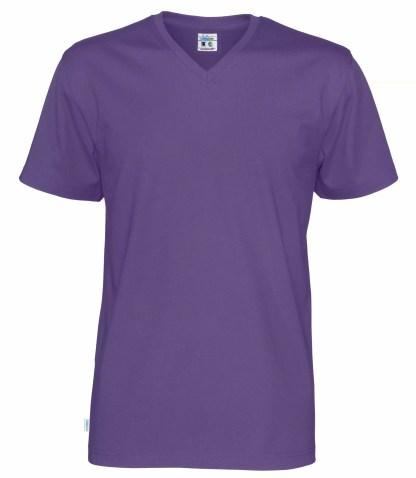 Cottover V neck T-skjorte herre - lilla (885)
