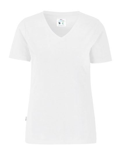 Cottover - 141025 - T-shirt V-neck Slim Fit Lady - Hvit (100)