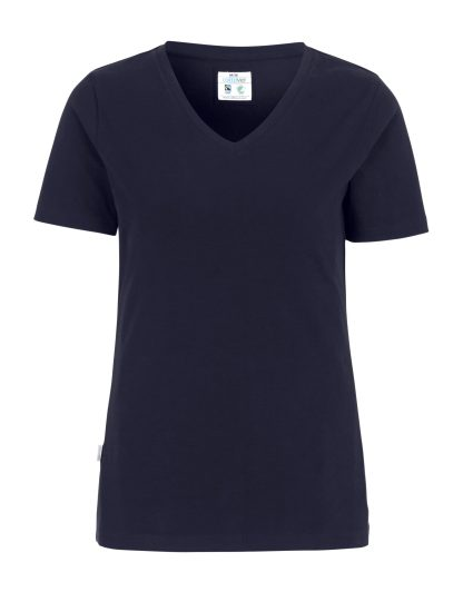 Cottover - 141025 - T-shirt V-neck Slim Fit Lady - Marineblå (855)