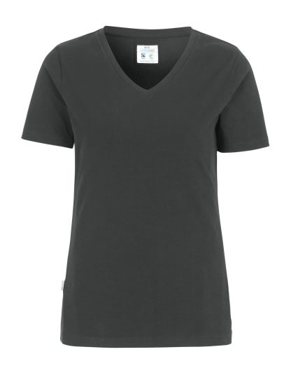 Cottover - 141025 - T-shirt V-neck Slim Fit Lady - Grå (980)