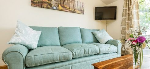 Hedgehunter Cottage at Wallops Wood has brand new sofas