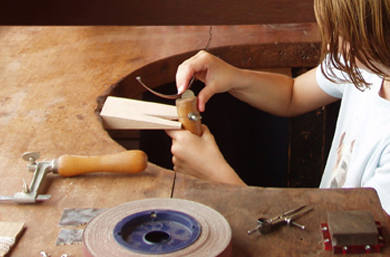 Jewellery making at Wallops Wood