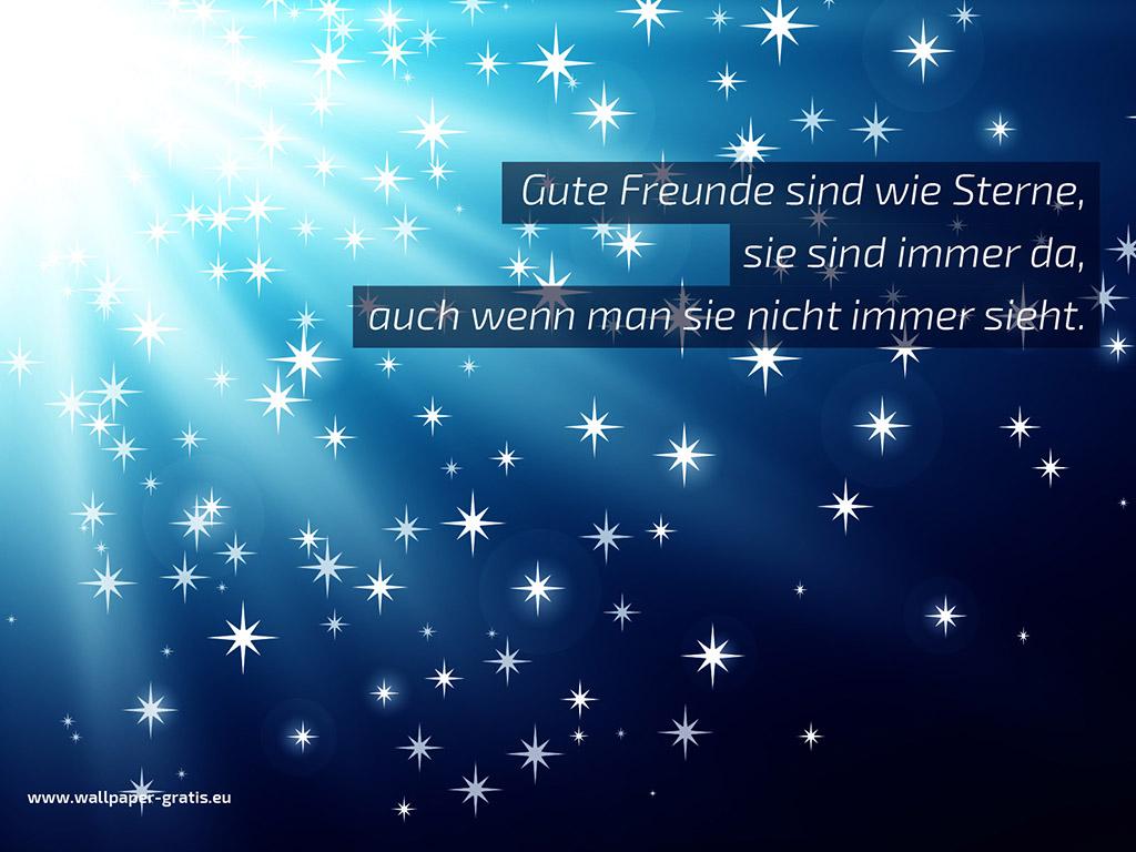 Gute Freunde sind wie Sterne 001  Hintergrundbild