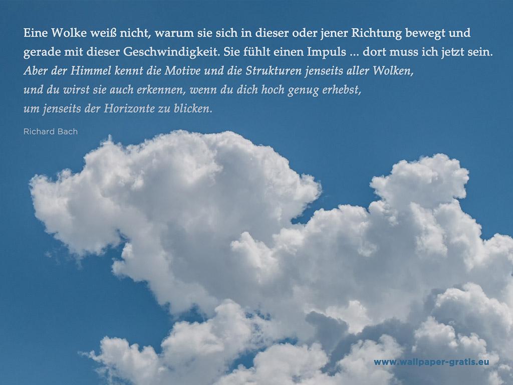 Zitat  Himmel  Wolken 006  Hintergrundbild