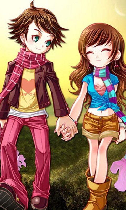 Anime Girl Holding Hands Wallpaper 480x800 Mobile Phone Wallpapers Download 26 480x800