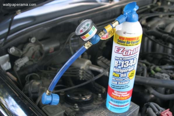 Auto Technician On How To Hook Up Ac Gauges To A Cars 134a Air
