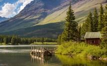 Hike Lake Glacier National Park Montana Wallpaper