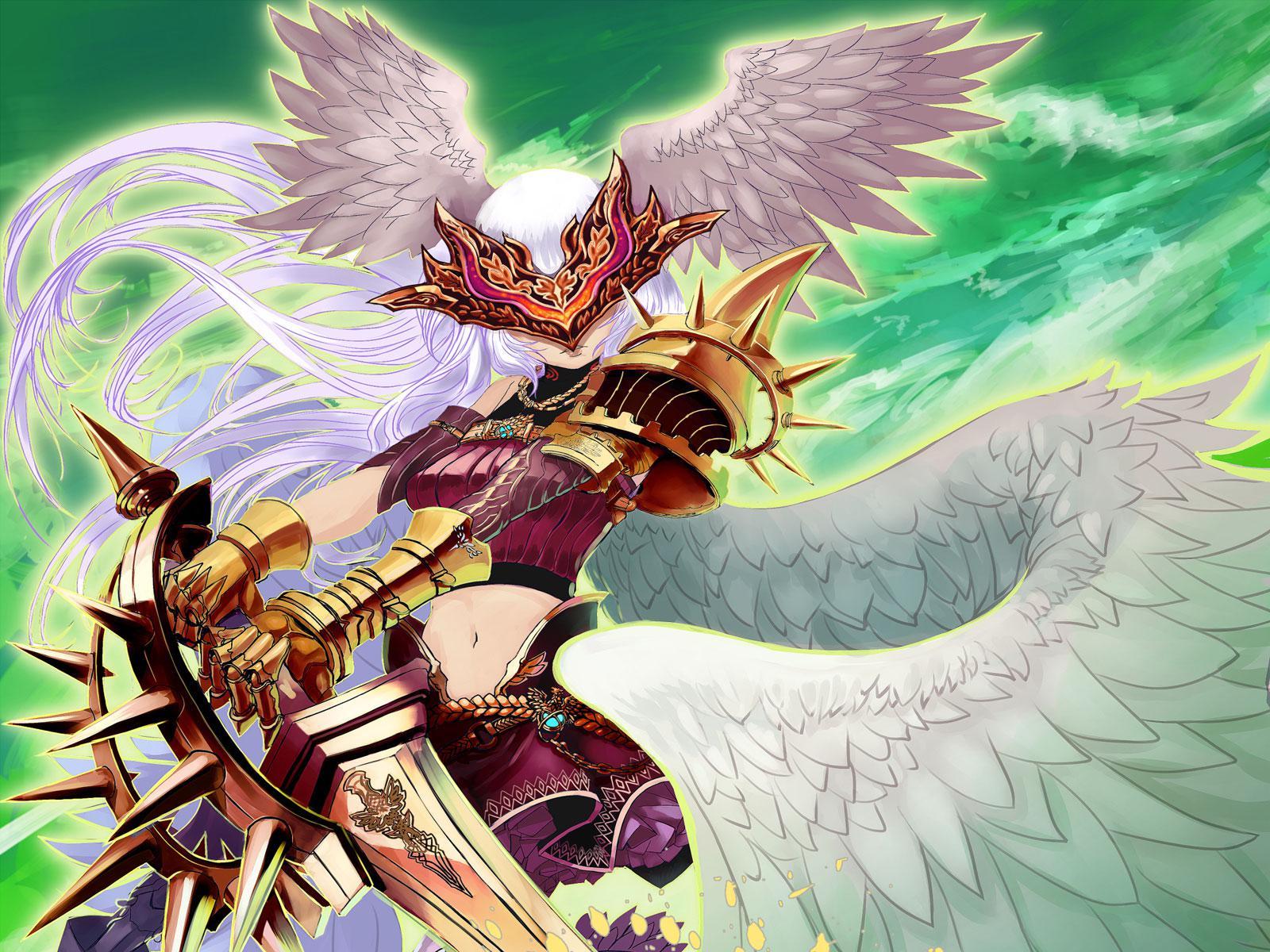 angels swords armor fantasy