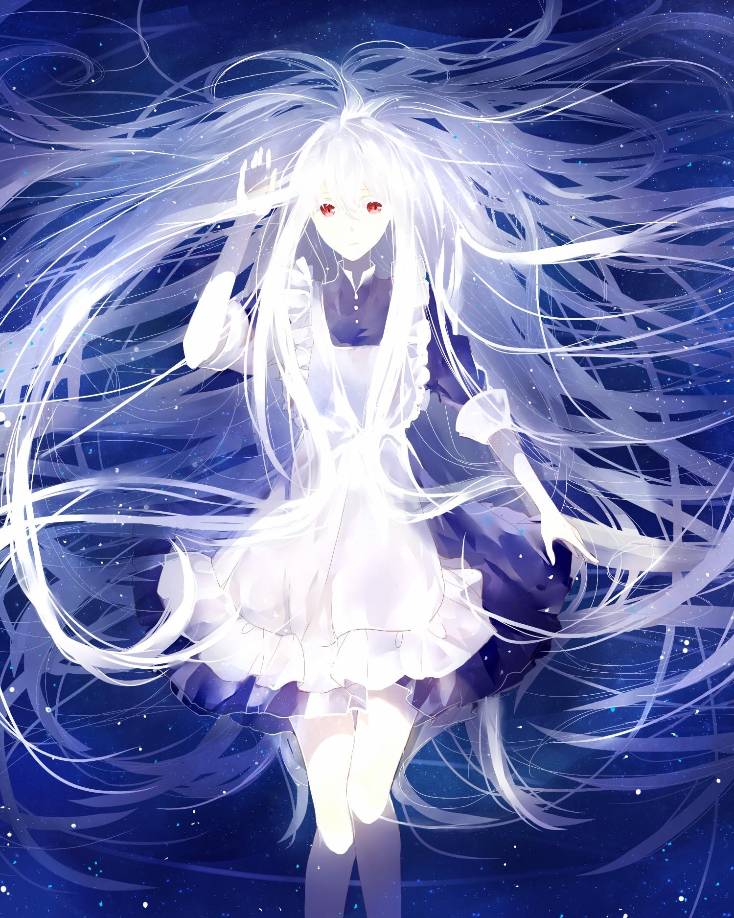Little Girl Wallpaper 800x1280 Kozakura Mary Anime Girls Kagerou Project White Hair