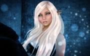 rendering fantasy girl elf ears
