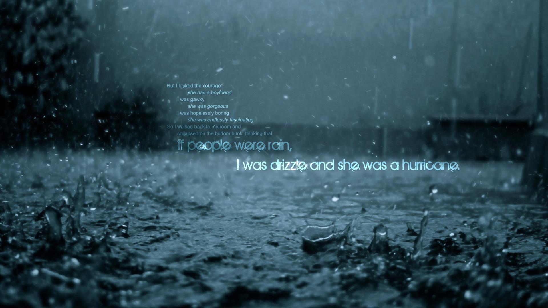 Falling Rain Wallpapers Desktop If People Were Rain Wallpaper Other Wallpaper Better