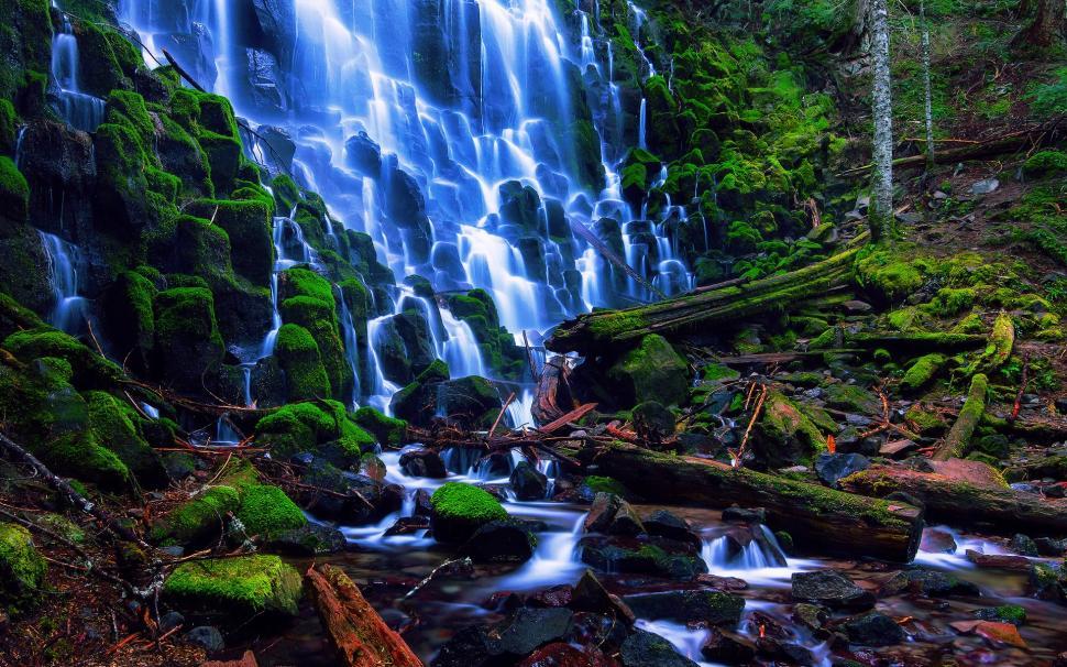 Multnomah Falls Oregon Wallpaper Usa Nature Landscape Oregon Ramona Falls Stones