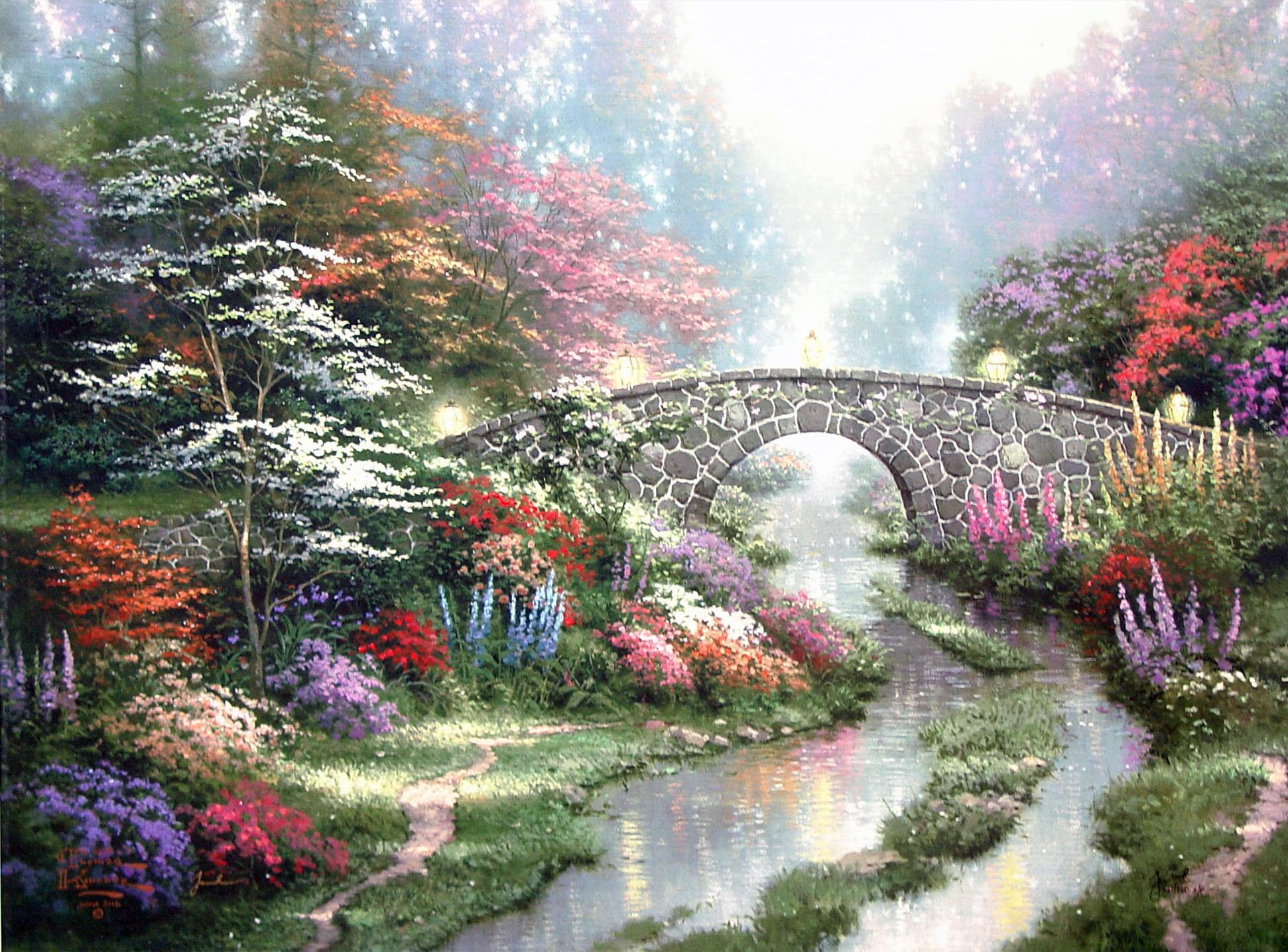 Galaxy S4 Fall Wallpaper By Thomas Kinkade Wallpaper Nature And Landscape