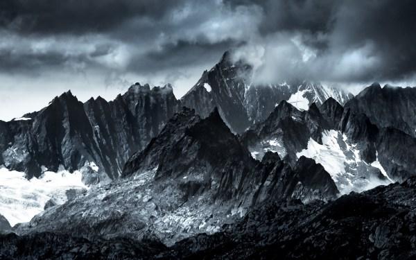 Landscape Nature Mountain Clouds Wallpaper