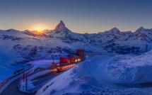 Switzerland Mountains Winter