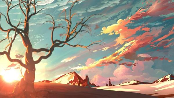 Sunset Digital Art Illustration Artwork Landscape