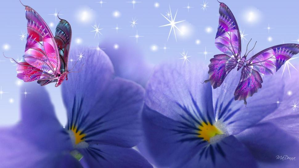 Cute Sparkly Pink Wallpapers Violets Butterflies Wallpaper Colorful Wallpaper Better