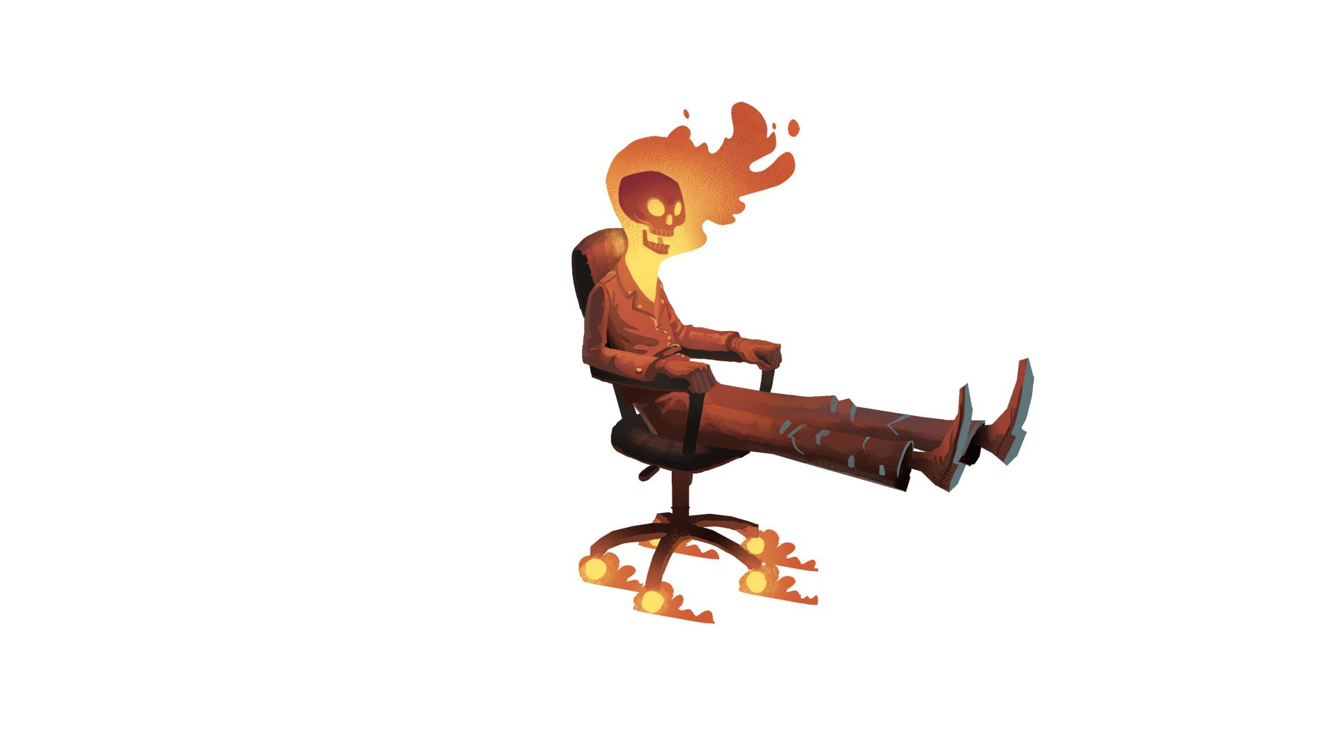 wheelchair on fire chair sashes for weddings ghost rider marvel skull white hd wallpaper