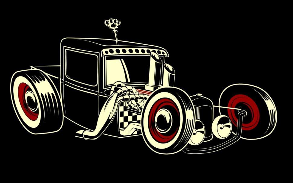 Download this hd desktop wallpaper. Vintage Car Drawing Wallpaper Anime Wallpaper Better