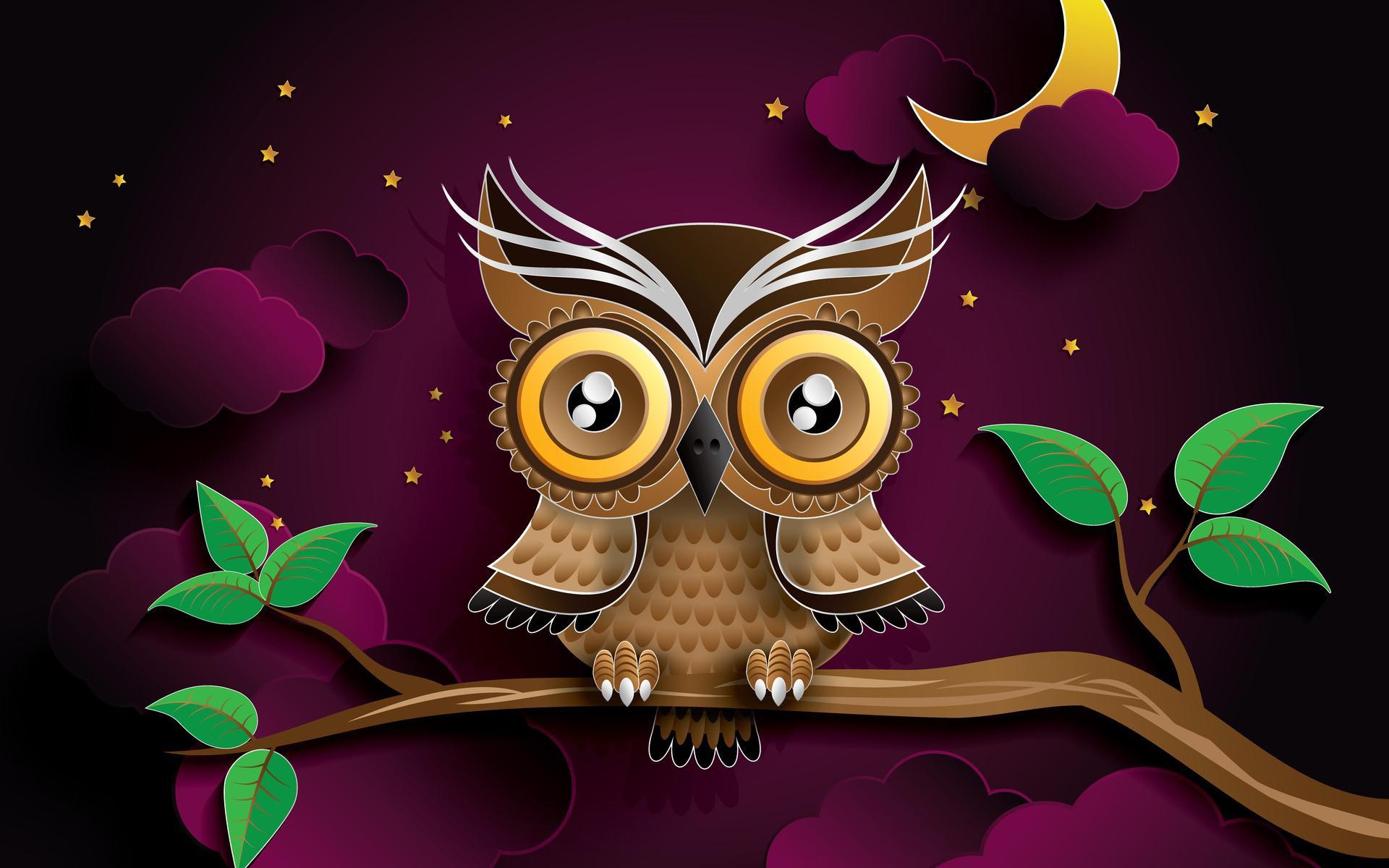 owl butterfly diagram strong winds cute halloween wallpaper