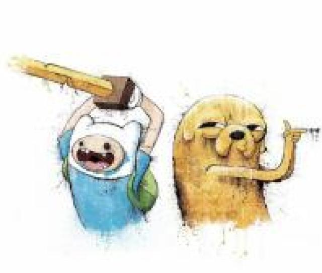Adventure Time Finn And Jake Art Wallpaper
