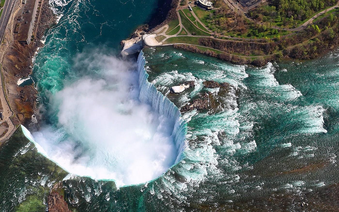 Niagara Falls 4k Wallpaper Landscape Nature Aerial View Niagara Falls Canada