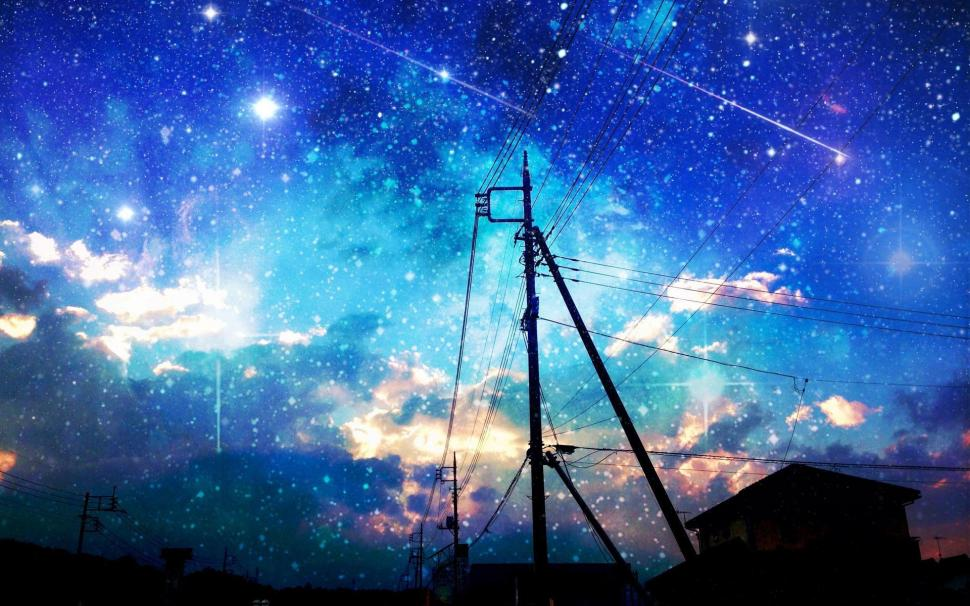 starry sky over the