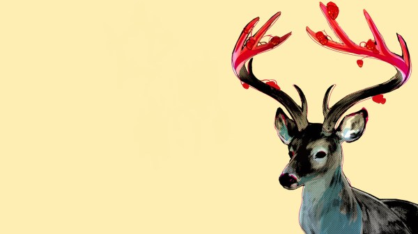 Reindeer Background for Desktop