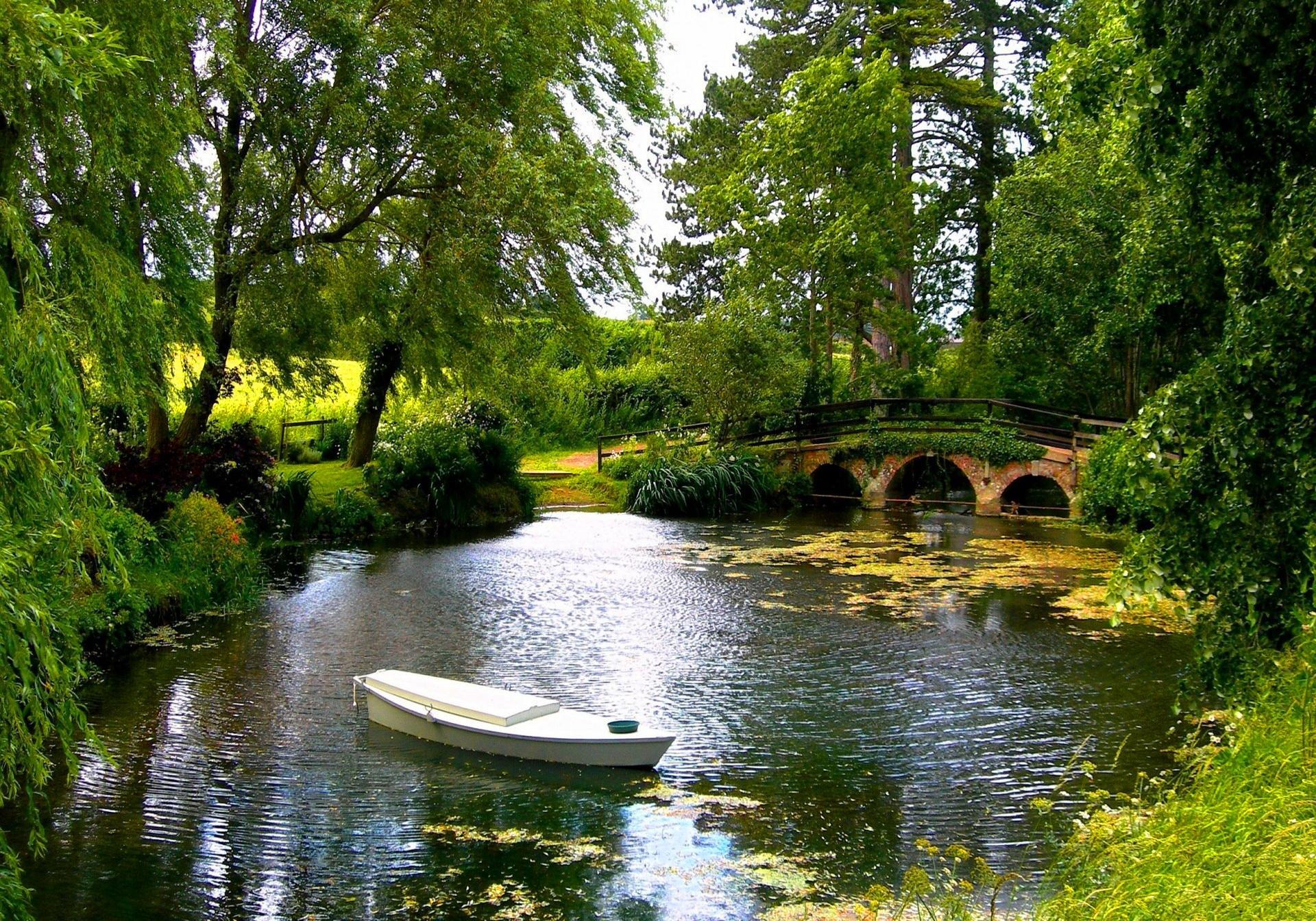Cute Tardis Wallpaper Small Bridge Over The Pond Wallpaper Nature And